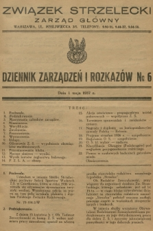 Dziennik Zarządzeń i Rozkazów. 1937, №6