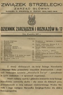 Dziennik Zarządzeń i Rozkazów. 1937, №17