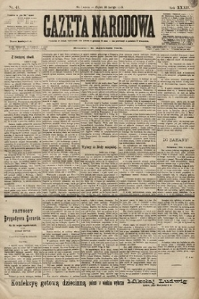 Gazeta Narodowa. 1899, nr41
