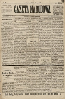 Gazeta Narodowa. 1899, nr43