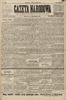 Gazeta Narodowa. 1899, nr49