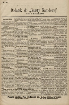 Gazeta Narodowa. 1899, nr93