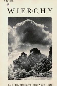Wierchy : rocznik poświęcony górom. R. 31, 1962