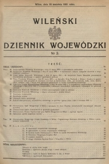 Wileński Dziennik Wojewódzki. 1931, nr3
