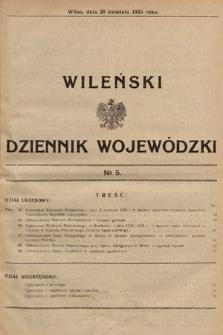 Wileński Dziennik Wojewódzki. 1935, nr5