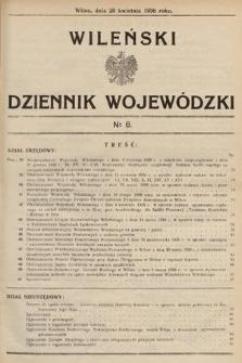 Wileński Dziennik Wojewódzki. 1936, nr6