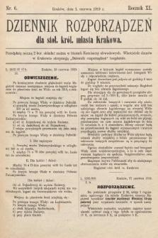 Dziennik Rozporządzeń dla Stoł. Król. Miasta Krakowa. 1919, nr6