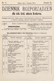Dziennik Rozporządzeń dla Stoł. Król. Miasta Krakowa. 1919, nr11