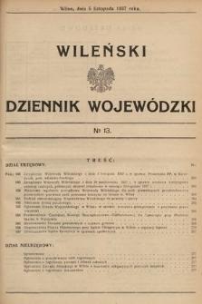 Wileński Dziennik Wojewódzki. 1937, nr13