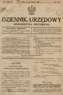 Dziennik Urzędowy Województwa Wileńskiego. 1926, nr1