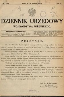 Wileński Dziennik Wojewódzki. 1928, nr1
