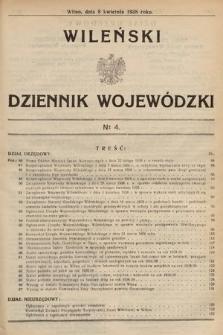 Wileński Dziennik Wojewódzki. 1938, nr4