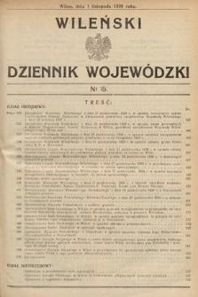 Wileński Dziennik Wojewódzki. 1938, nr15