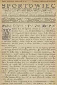 Sportowiec : tygodnik ilustrowany, poświęcony wszelkim gałęziom sportu : oficjalny organ Toruńskiego Związku Okręgowego Piłki Nożnej. R.2, 1924, nr2