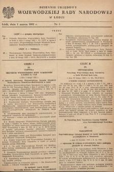 Dziennik Urzędowy Wojewódzkiej Rady Narodowej w Łodzi. 1952, nr5