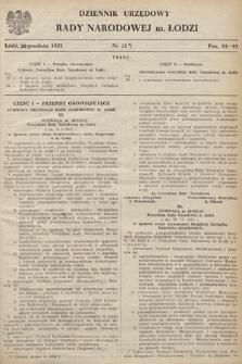 Dziennik Urzędowy Wojewódzkiej Rady Narodowej w Łodzi. 1952, nr21