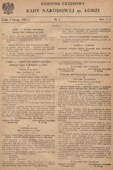 Dziennik Urzędowy Wojewódzkiej Rady Narodowej w Łodzi. 1955, nr1