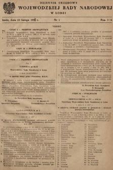 Dziennik Urzędowy Wojewódzkiej Rady Narodowej w Łodzi. 1957, nr1