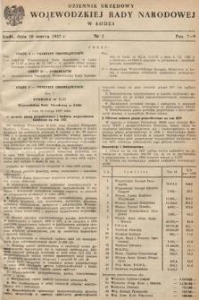 Dziennik Urzędowy Wojewódzkiej Rady Narodowej w Łodzi. 1957, nr2
