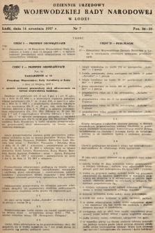 Dziennik Urzędowy Wojewódzkiej Rady Narodowej w Łodzi. 1957, nr7