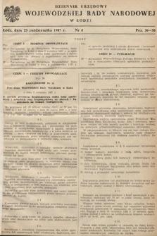 Dziennik Urzędowy Wojewódzkiej Rady Narodowej w Łodzi. 1957, nr8