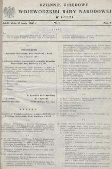 Dziennik Urzędowy Wojewódzkiej Rady Narodowej w Łodzi. 1960, nr3