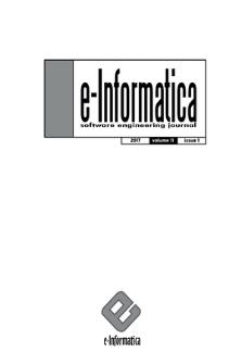E-Informatica : software engineering journal. Vol. 11, 2017