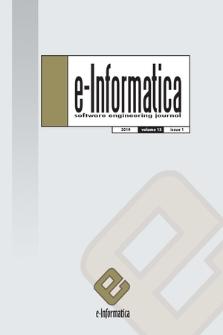 E-Informatica : software engineering journal. Vol. 13, 2019