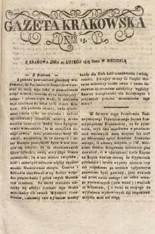 Gazeta Krakowska. 1818, nr15