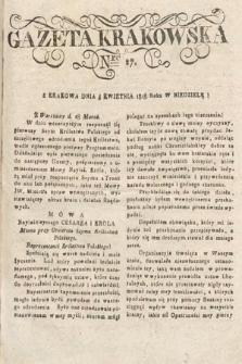 Gazeta Krakowska. 1818, nr27