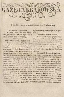 Gazeta Krakowska. 1818, nr33