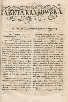 Gazeta Krakowska. 1818, nr73