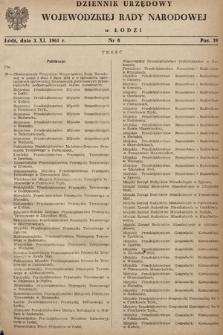 Dziennik Urzędowy Wojewódzkiej Rady Narodowej wŁodzi. 1961, nr8