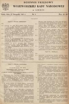 Dziennik Urzędowy Wojewódzkiej Rady Narodowej wŁodzi. 1961, nr9