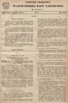 Dziennik Urzędowy Wojewódzkiej Rady Narodowej wŁodzi. 1962, nr7