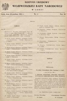 Dziennik Urzędowy Wojewódzkiej Rady Narodowej wŁodzi. 1962, nr13
