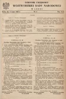 Dziennik Urzędowy Wojewódzkiej Rady Narodowej wŁodzi. 1963, nr2