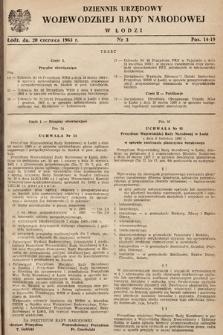 Dziennik Urzędowy Wojewódzkiej Rady Narodowej wŁodzi. 1963, nr3