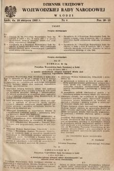 Dziennik Urzędowy Wojewódzkiej Rady Narodowej wŁodzi. 1963, nr4