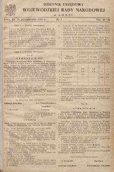 Dziennik Urzędowy Wojewódzkiej Rady Narodowej wŁodzi. 1963, nr7