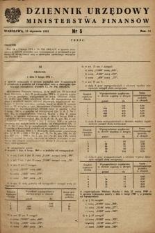 Dziennik Urzędowy Ministerstwa Finansów. 1951, nr5
