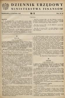 Dziennik Urzędowy Ministerstwa Finansów. 1951, nr9