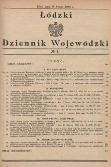 Łódzki Dziennik Wojewódzki. 1936, nr4