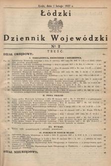 Łódzki Dziennik Wojewódzki. 1937, nr2
