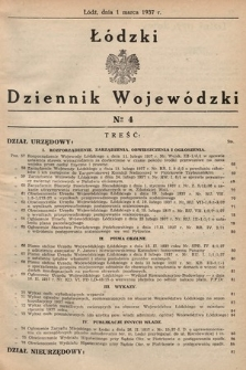 Łódzki Dziennik Wojewódzki. 1937, nr4