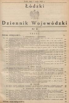 Łódzki Dziennik Wojewódzki. 1937, nr9
