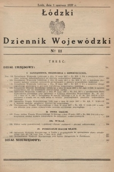 Łódzki Dziennik Wojewódzki. 1937, nr11