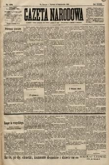 Gazeta Narodowa. 1899, nr279