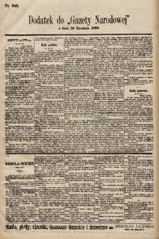 Gazeta Narodowa. 1899, nr343
