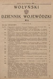 Wołyński Dziennik Wojewódzki. 1929, nr6